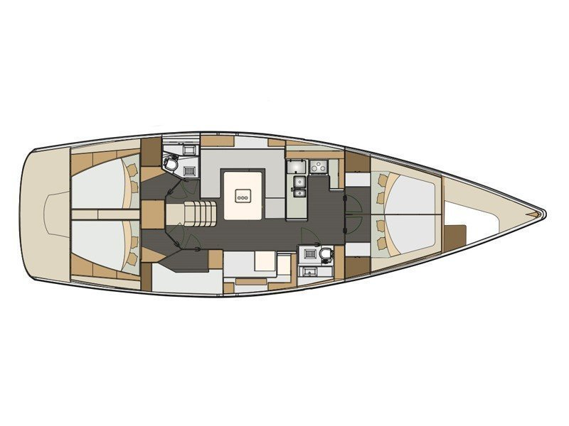 Elan 50 Impression (Alboran Mai-Tai (Majorca)) Plan image - 1