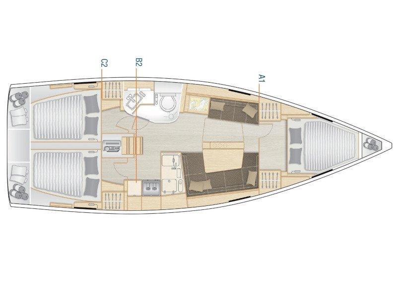 Hanse 388 (Tadeja) Plan image - 5
