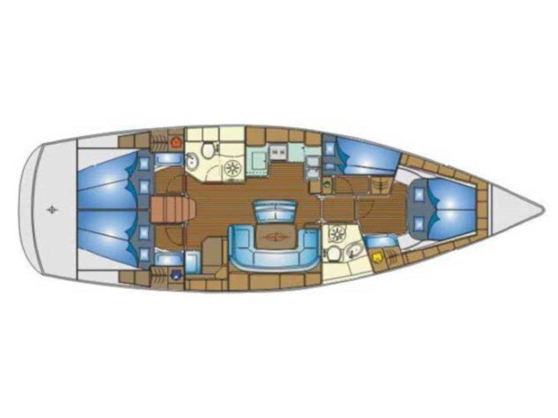 Bavaria 46 Cruiser (Thetis) Plan image - 11