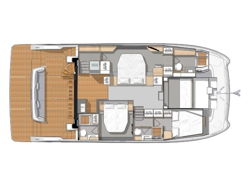 Fountaine Pajot 44 (Umbrella Victoria - incl. Williams 325 (100 PS) 2 SUP, Wakeboard ) Plan image - 4