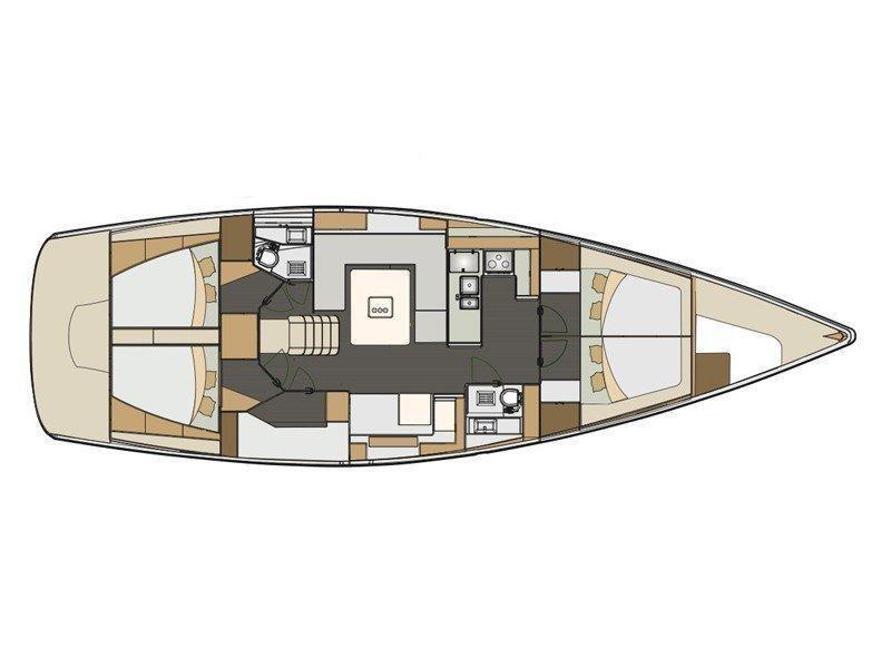 Elan 50 Impression (Alboran Mai-Tai (Radazul)) Plan image - 1