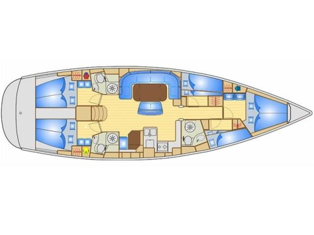 Bavaria Cruiser 50 (Dami ) Plan image - 1