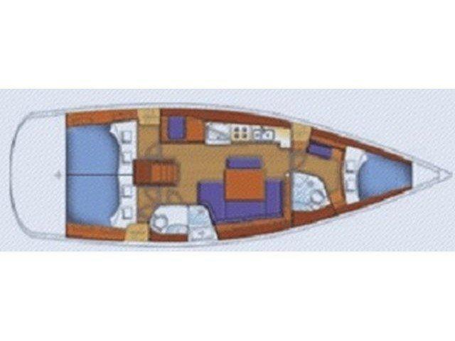 Oceanis 43-3 (Alboran XXX Cubalibre (Las Galletas)) Plan image - 2