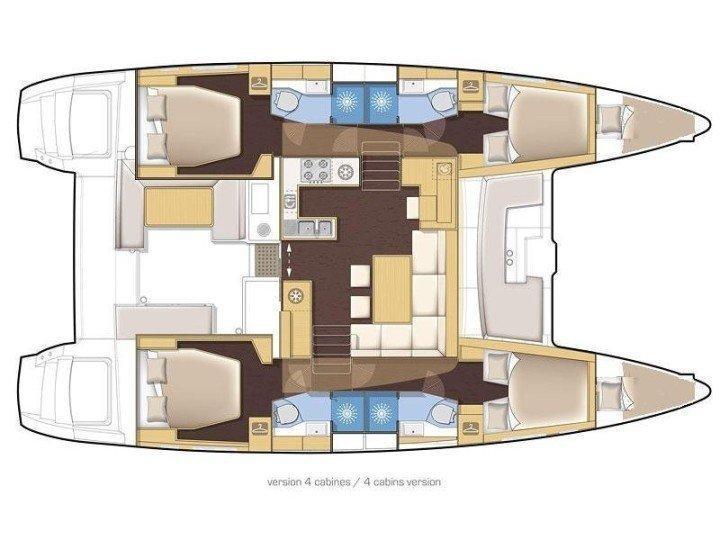 Lagoon 450 F (Medousa) Layout - 2