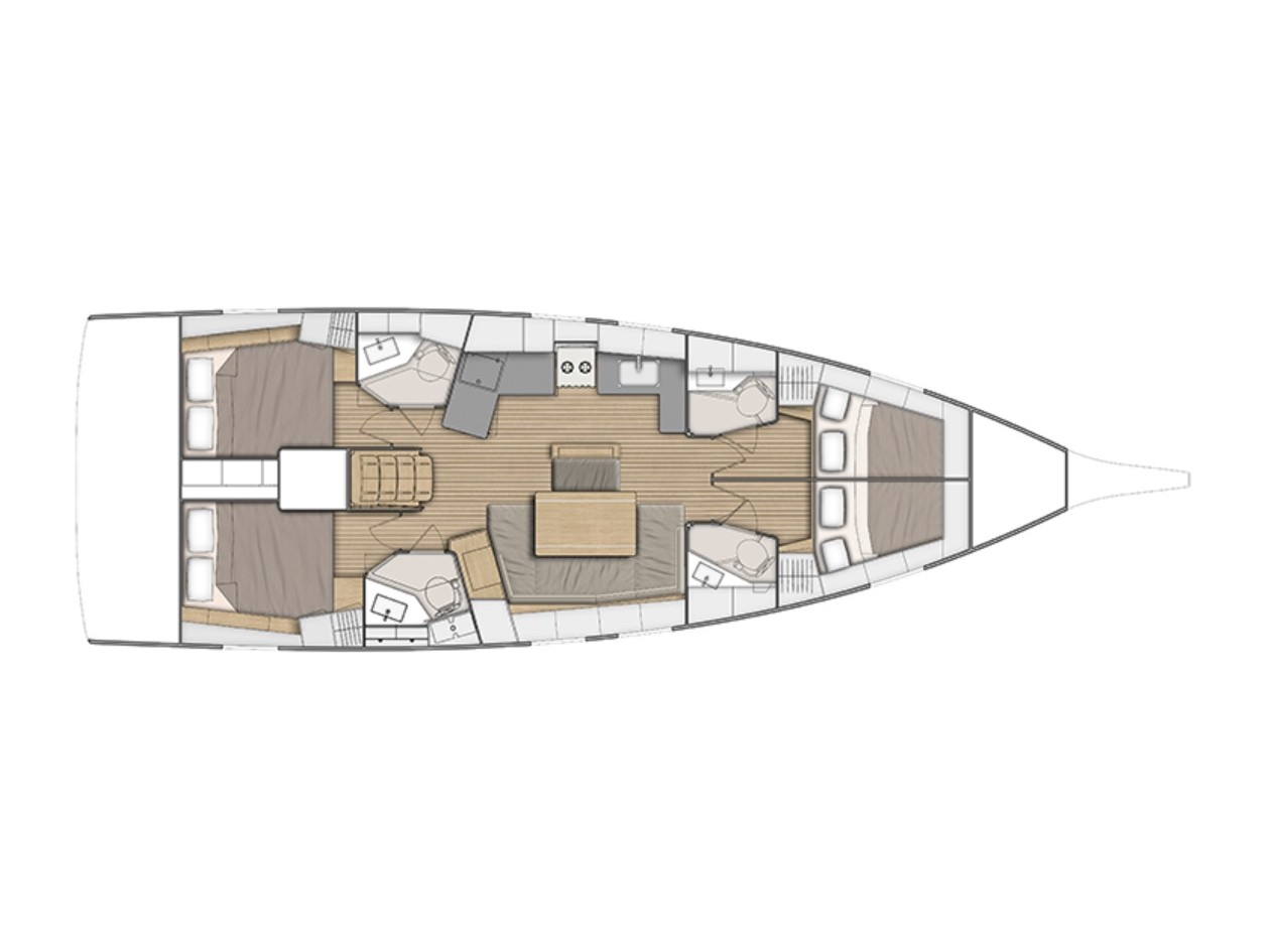 Oceanis 46.1 (Ethereal -Watermaker 12V (4 Cabins 4 Heads )) Plan image - 2