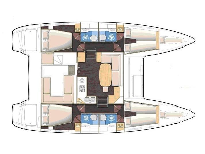 Lagoon 400 S2  (Vassiliki) Plan image - 1