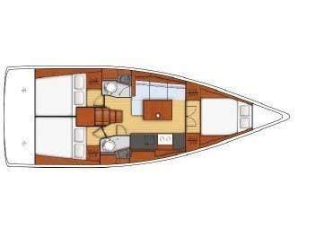 Oceanis 38.1 (FOLLIA) Plan image - 1