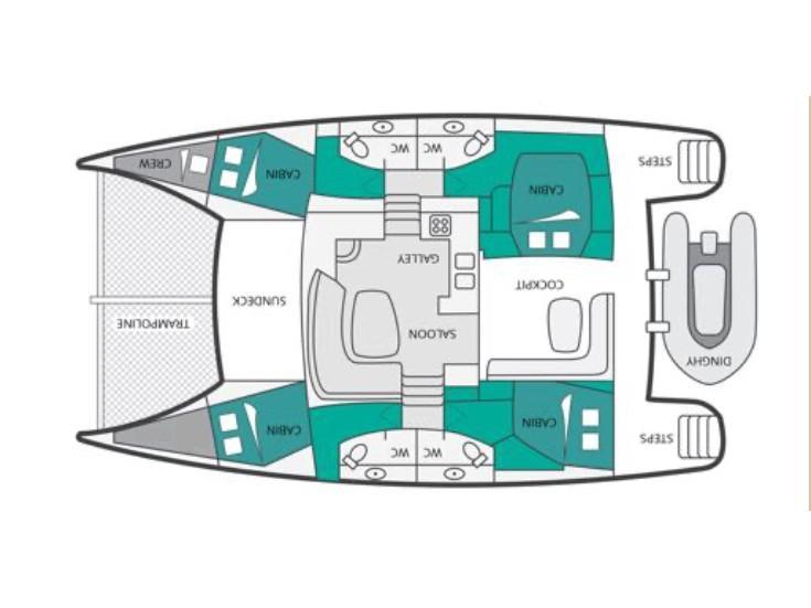 Orana 44 (Ciube (Watermaker, Solar Panels)) Plan image - 2