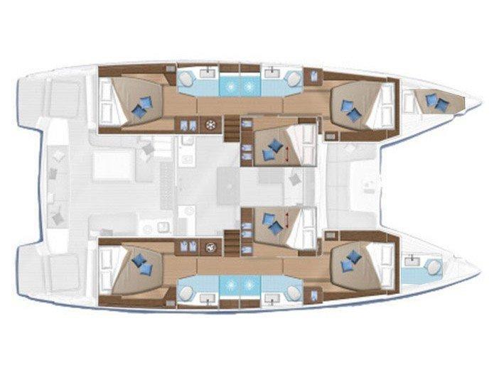 Lagoon 50 (Princess Claire) Plan image - 1