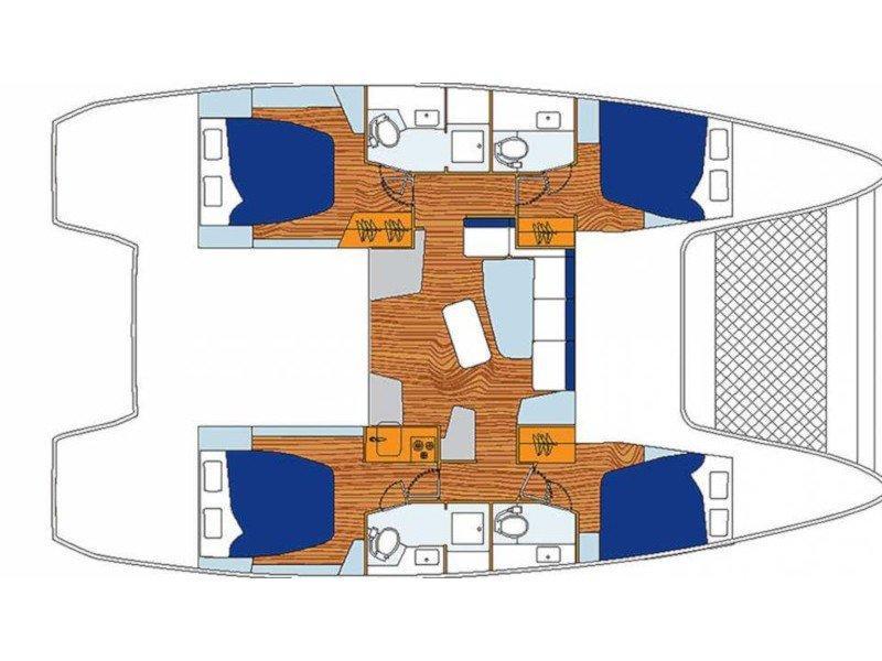 Sunsail 424 () Plan image - 1