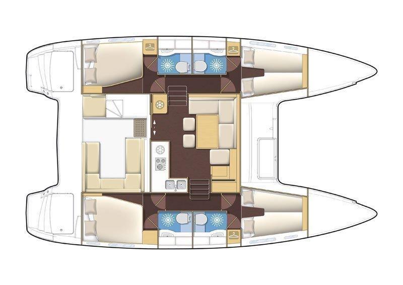 Lagoon 400 S2 (Sveti Vlaho) Plan image - 8