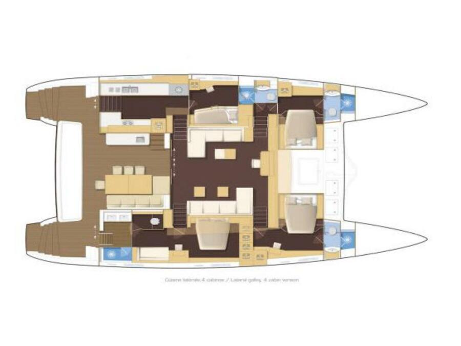 Lagoon 620(GEN,AC,WATERMAKER) (MyOffice) Plan image - 2