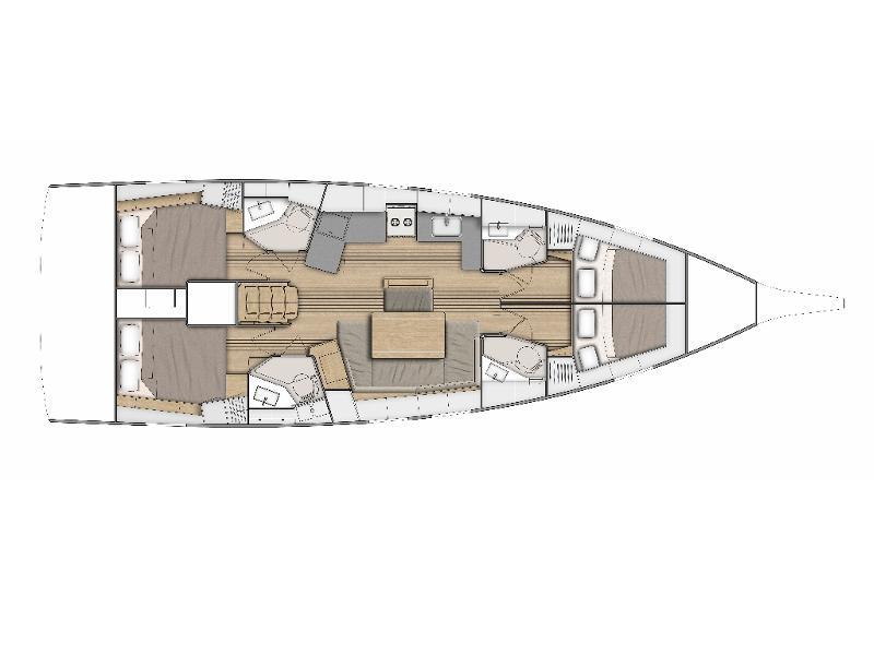 Oceanis 46.1 -4cab (ANDIAMO) Plan image - 3
