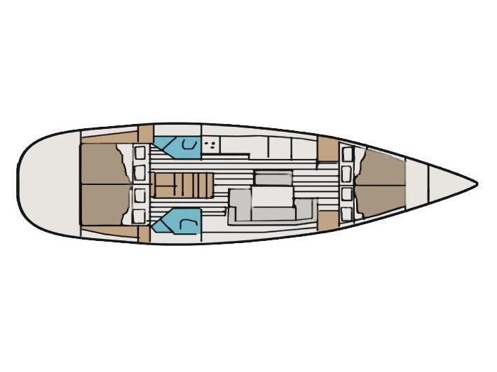 Sun Odyssey 44i (Alcor (TFS)) Plan image - 2