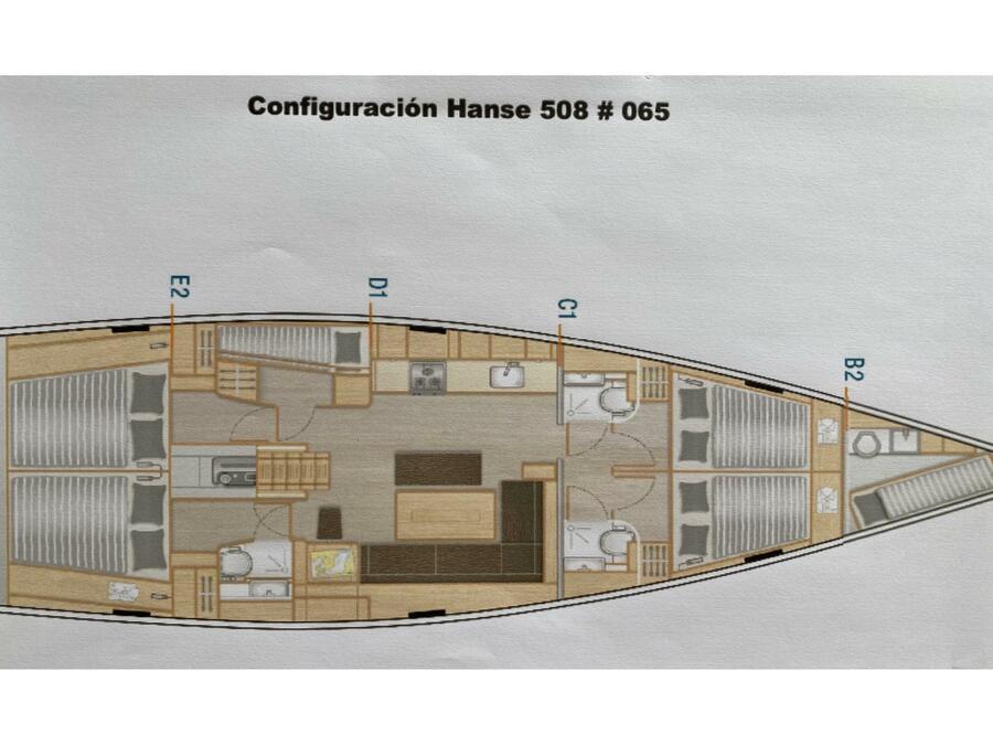 Hanse 508 (Katerina Wing) Plan image - 5