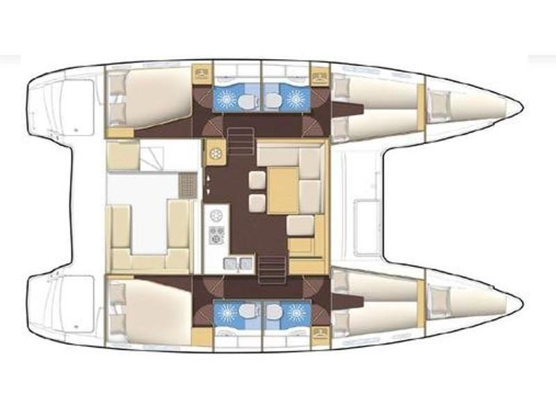 Lagoon 400 S2 (Giselle) Plan image - 15