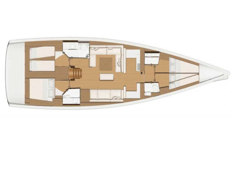 Dufour 520 Grand Large (Anima) Plan image - 3