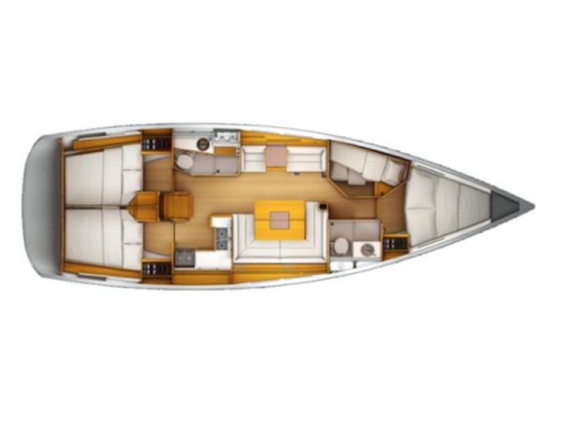 Sun Odyssey 439 (Victoria of Sweden) Plan image - 8