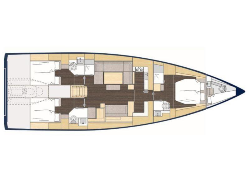 Bavaria Cruiser 57 (Be luxe) Plan image - 9