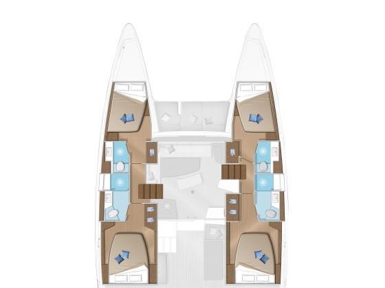 Lagoon 42 (Antares) Plan image - 2