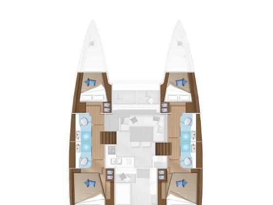 Lagoon 40 (Vega) Plan image - 4