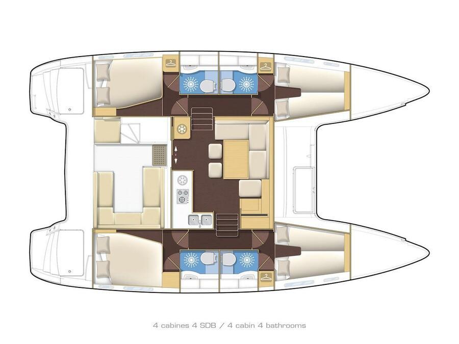 Lagoon 400 S2 (Second Wind) Plan image - 11