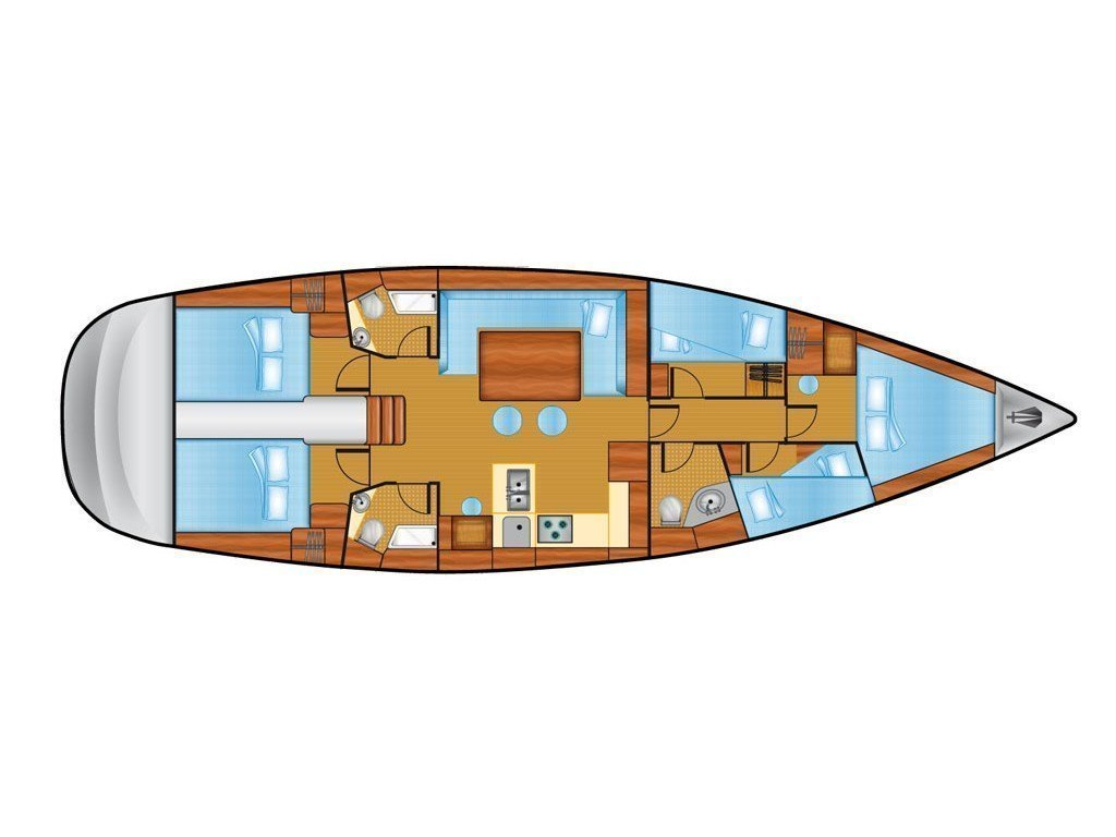 Bavaria 51 Cruiser (Feel Free) Plan image - 1