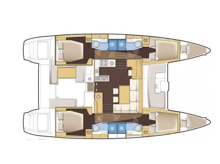 Lagoon 450  Flybridge (Nata) Plan image - 2