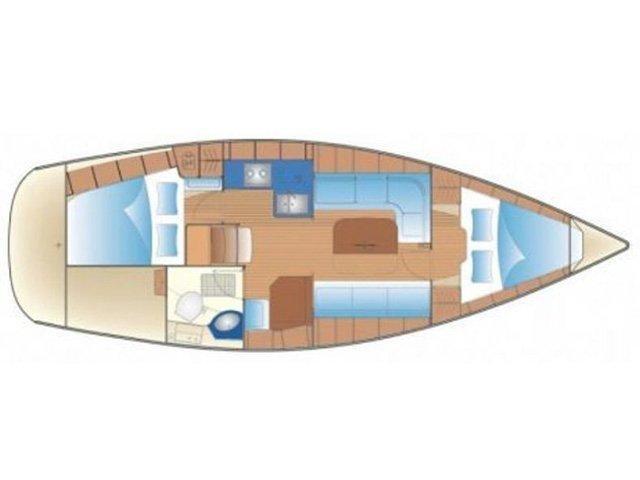 Bavaria 34 Cruiser (B34-08-L) Plan image - 1