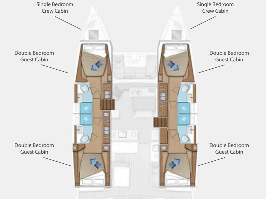 Lagoon 46  (Anastasia) Plan image - 2