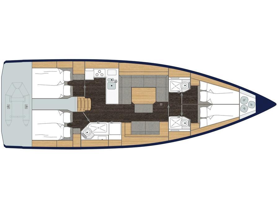 Bavaria C45 (LADY FLORA 1) Plan image - 2