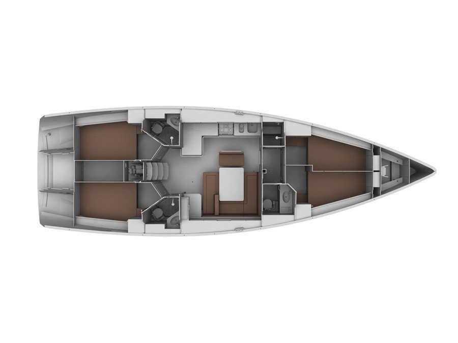 Bavaria Cruiser 45 (Alena) Plan image - 1