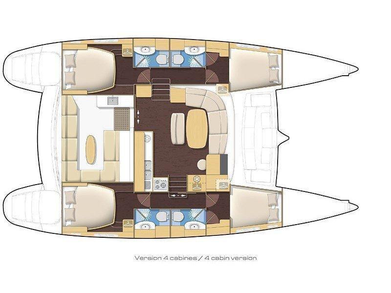 Lagoon 440 (Casino (A/C) - (A/C - Generator)) Plan image - 1
