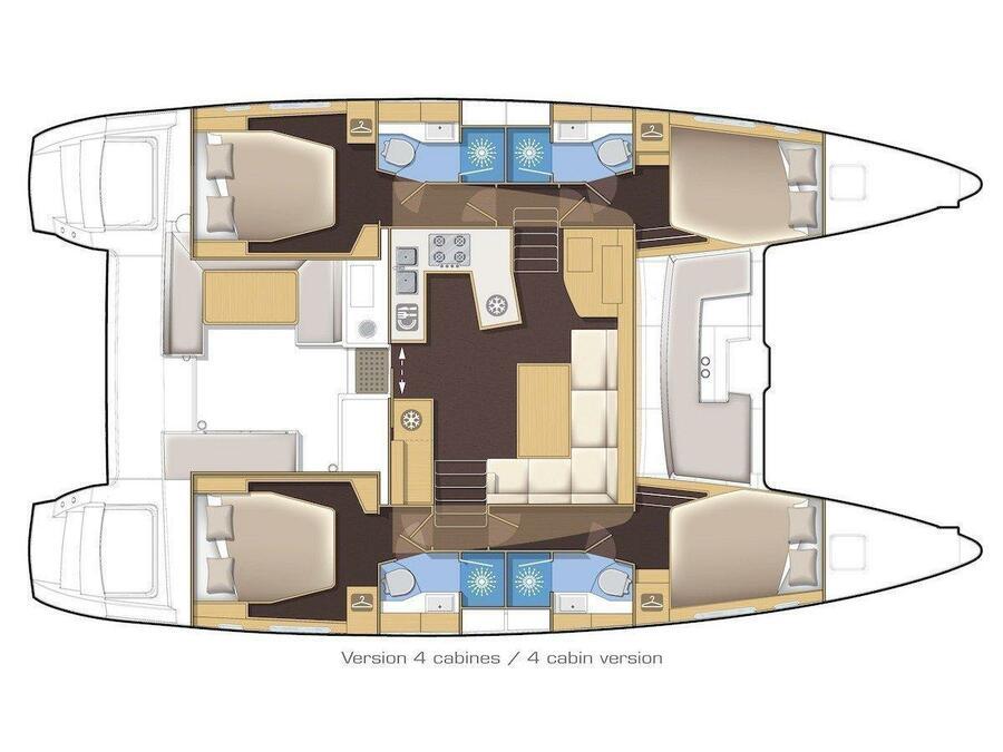 Lagoon 450 S (Anabella) Plan image - 6