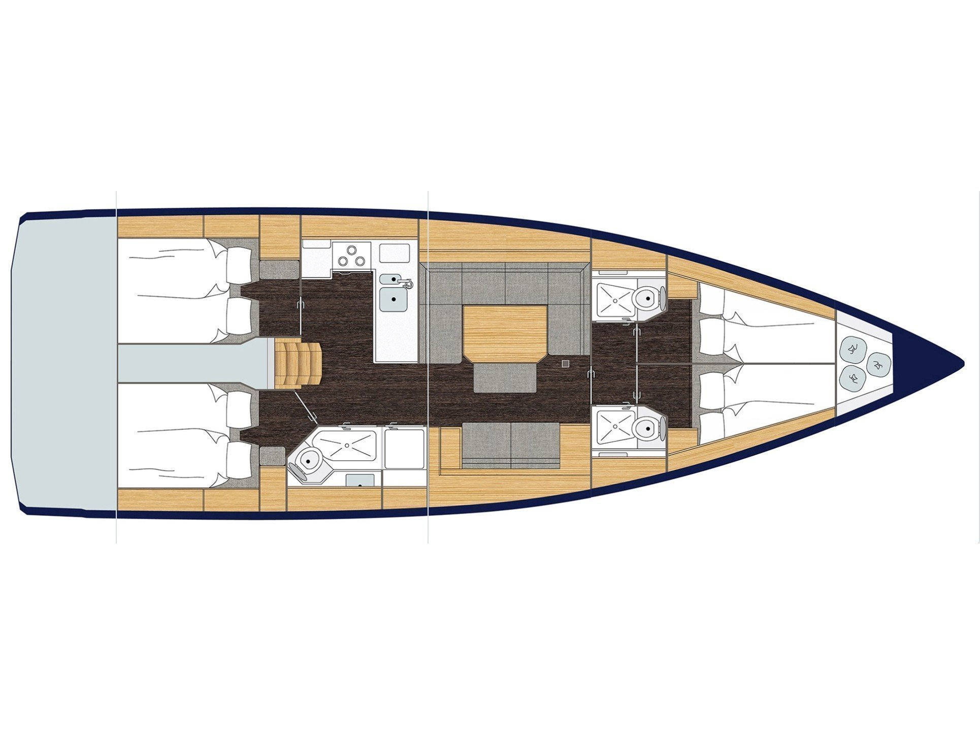 Bavaria C45 Style (Katharina ) Plan image - 1