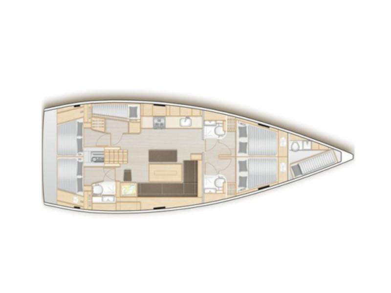 Hanse 508 (Poseidon) Plan image - 17