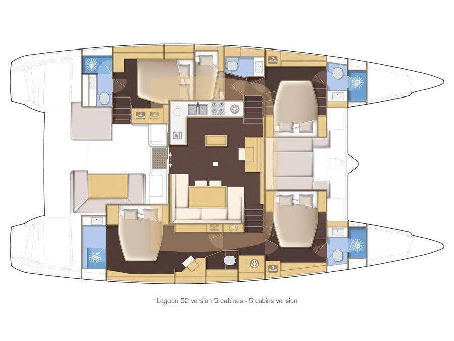 Lagoon 52 F (My One) Plan image - 16
