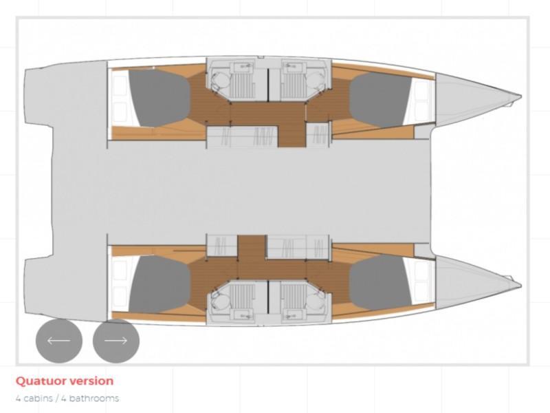 Astréa 42 (Orestes- A/C & Watermaker & Generator- 4+2 Cabins/4 Heads) Plan image - 9