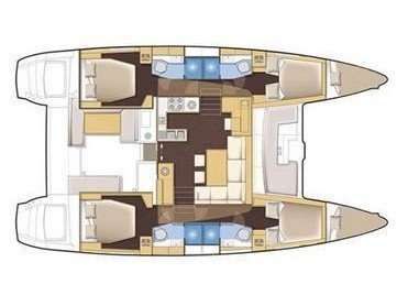 Lagoon 450 (Poker Face  - (A/C - Generator)) Plan image - 6