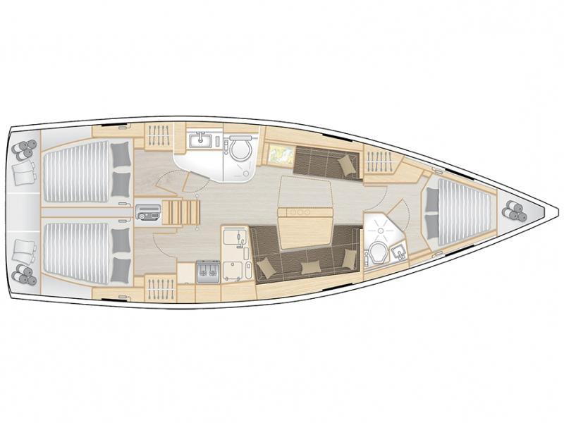 Hanse 418 (Maja) Plan image - 2