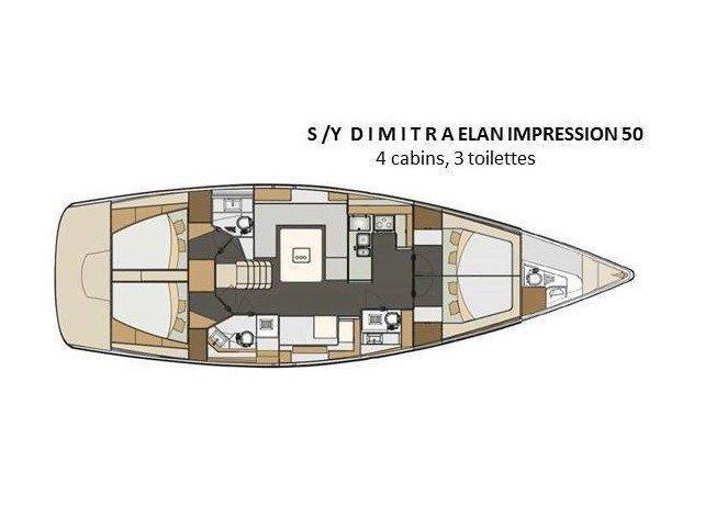 Elan 50 Impression (Dimitra) Plan image - 4