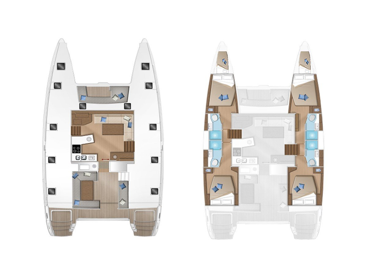 Lagoon 450  Flybridge (Relax) Plan image - 1