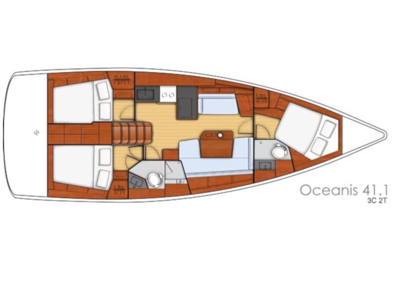 Oceanis 41.1 (Sail Rigel) Plan image - 1