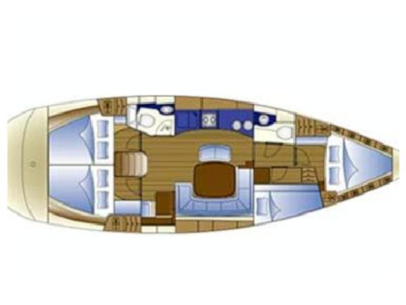 Bavaria 44 (Sail Charlie) Plan image - 3