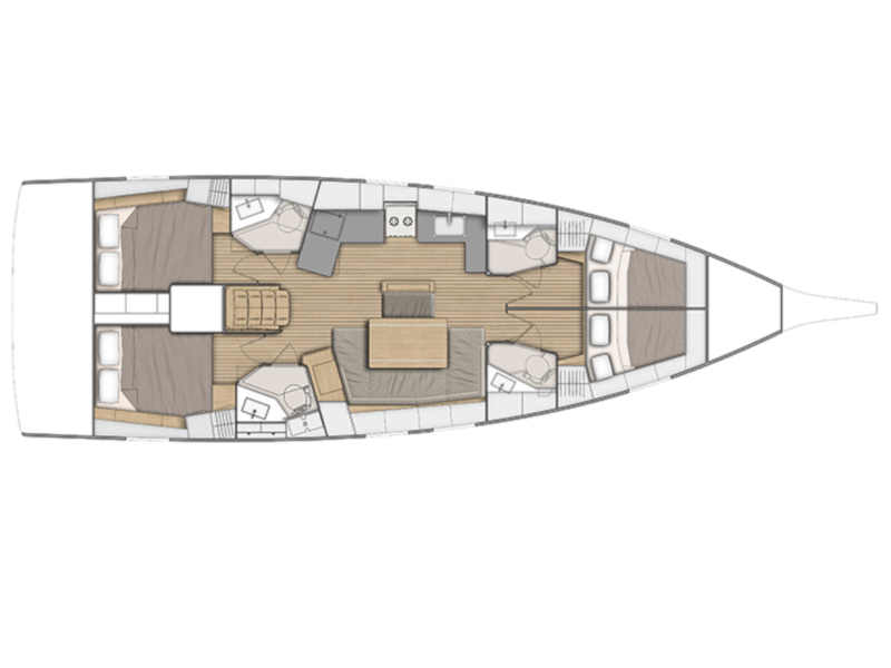 Oceanis 46.1 (Sail Delta) Plan image - 2