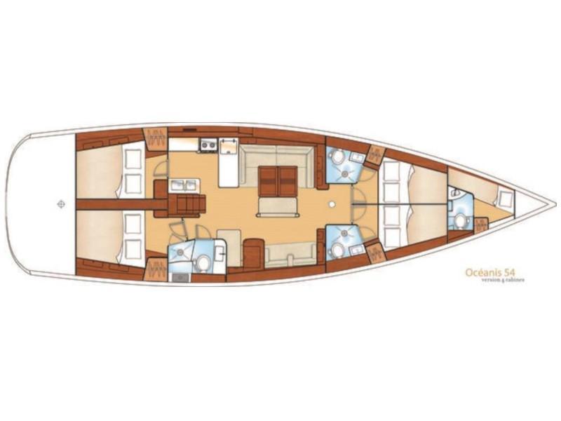 Oceanis 54 (Sail Antares) Plan image - 10