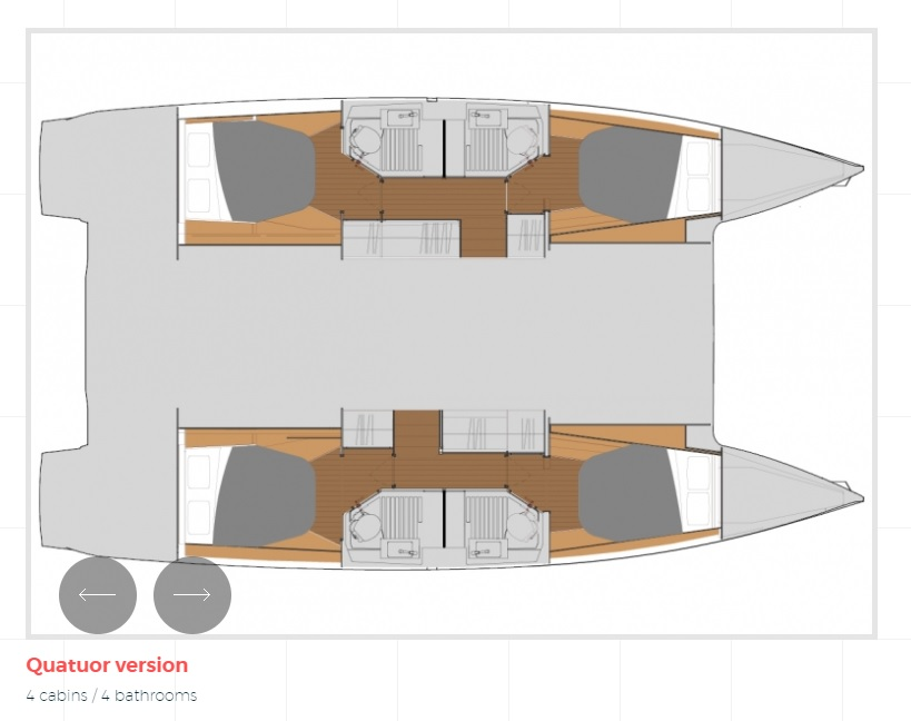 Astréa 42 (Sissy- A/C & Watermaker & Generator & Electrical Platform - 4+2 Cabins/4 Heads)  - 15