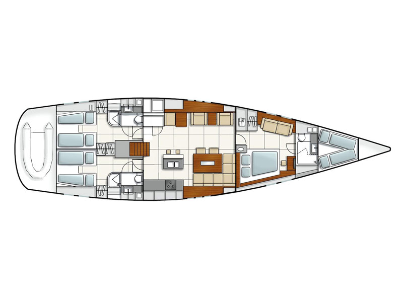 Hanse 630 (Flow) Plan image - 44