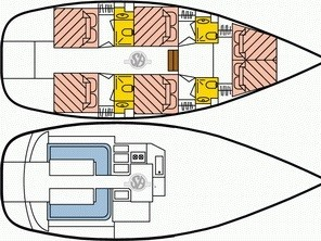 Dufour Atoll 6 (The Big One Two) Plan image - 4