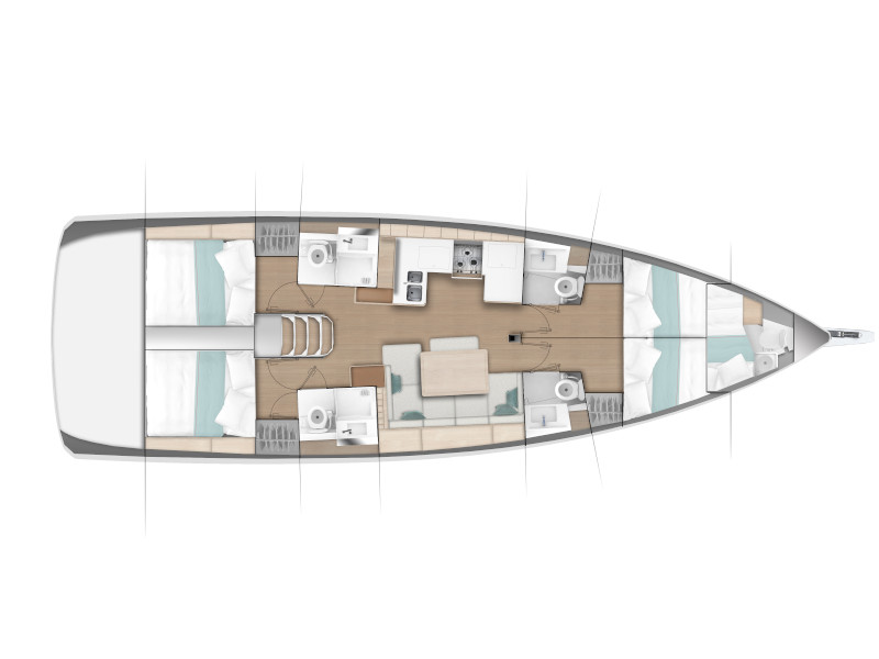 Sun Odyssey 490 (GERI (NEW MODEL, BLUE HULL, AC+GEN.)) Plan image - 6
